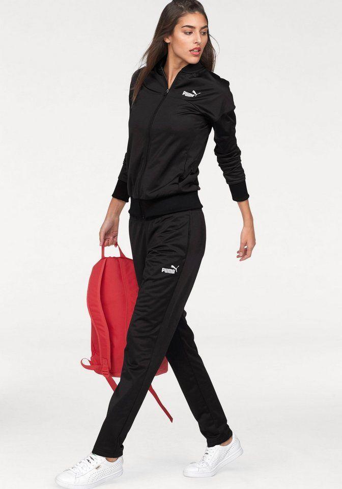 PUMA Trainingsanzug (Set, 2 tlg), Jacke mit Stehkragen und