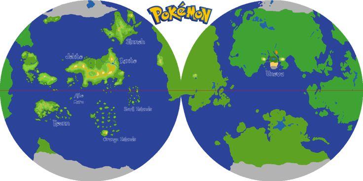 Pokemon Planet Hemispheres By Grimklok Deviantart Com On