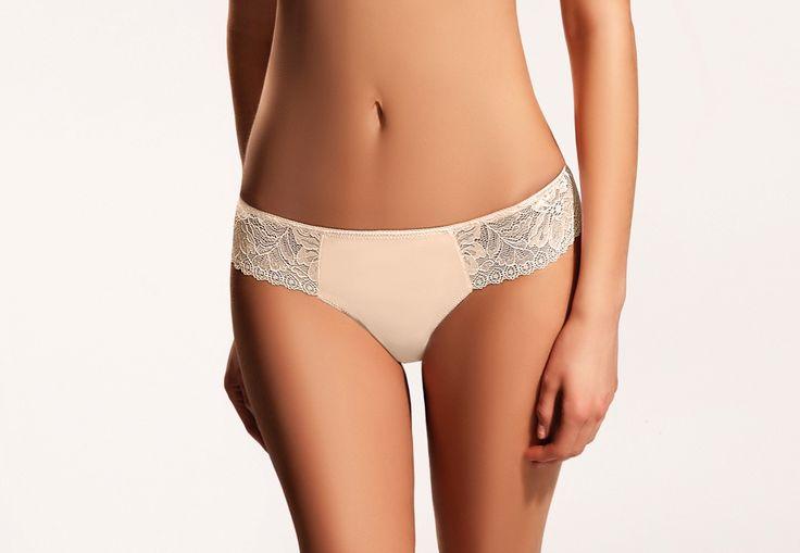 ARWENA beige #lingerie #beige #creamy #lace #tulle #intimate #sexy #koronka #bielizna #shorts #szorty #tiul