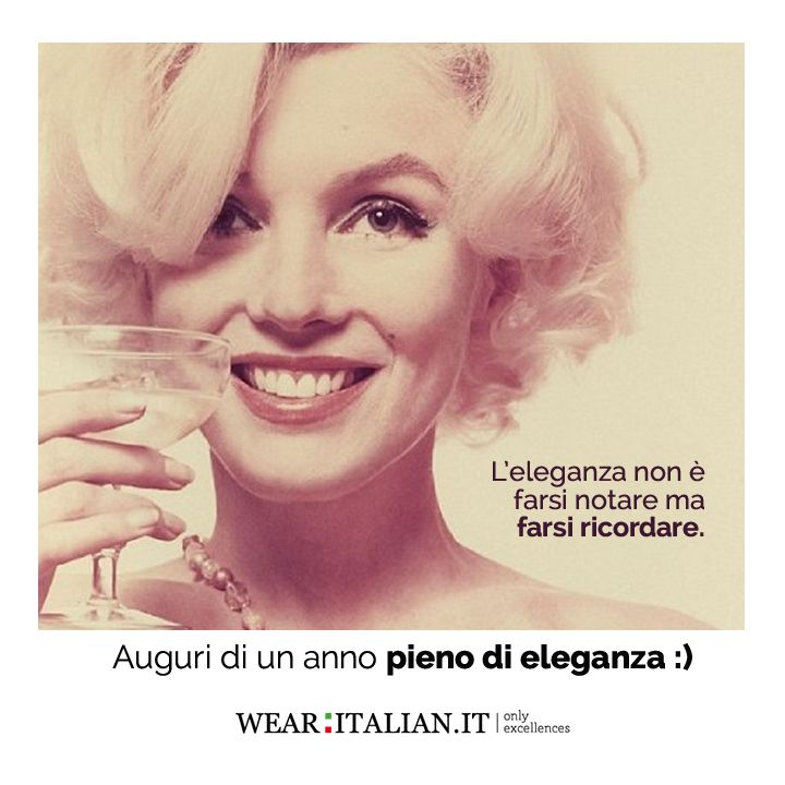L'eleganza non è farsi notare ma farsi ricordare! #wearitalian