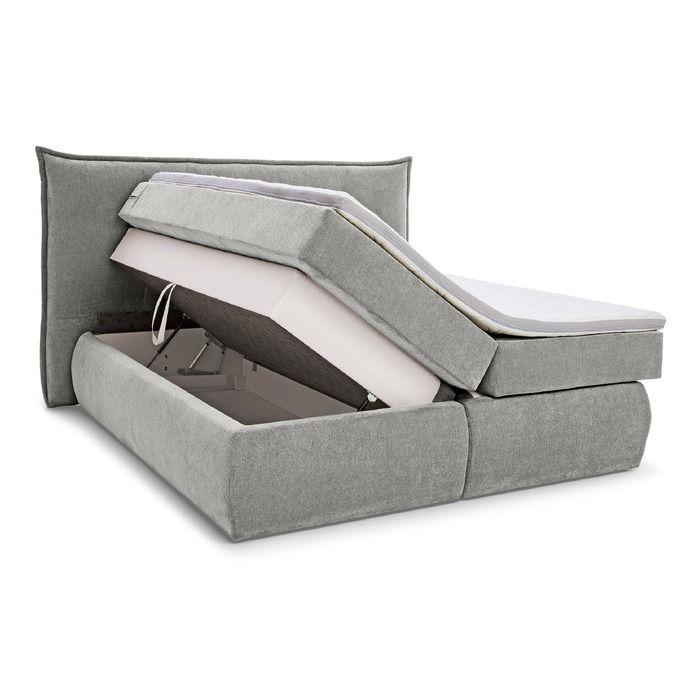 Boxspringbett Felina 180 X 200 Cm Grau Segmuller Onlineshop In 2020 Boxspringbett Kleines Schlafzimmer Bett
