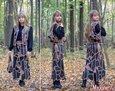 """Sukně a kabelka """"mozaika"""" z kousků kůže - klapkou a háčku, vzor, ušít sukně, vyšívání"""