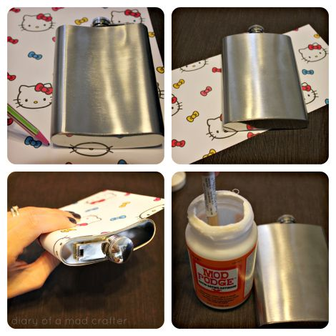 flask cover diy thought as much but was hoping there was a cheaper way than modpodge