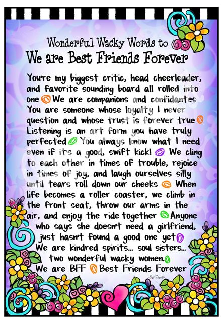 Best Friends Forever - 8x10 Gifty Art 1