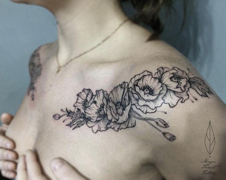 Floral shoulder pieces
