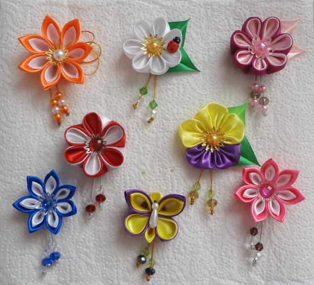 Kanzashi tutorial tutorials and kanzashi flowers on pinterest - Quot Quot 8