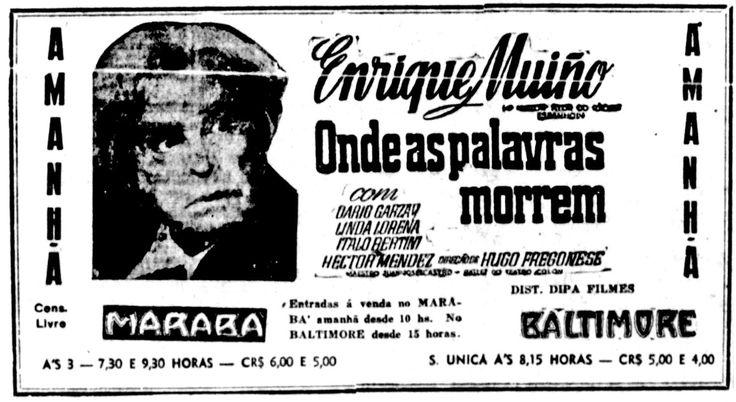 1946 - DONDE MUEREN LAS PALABRAS - Hugo Fregonese - (JORNAL DO DIA, Domingo 14 de Marzo de 1948, Rio de Janeiro, Brasil)