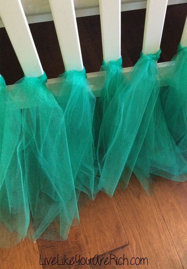 tulle-skirt How to Make a Ballerina Tulle Crib Skirt