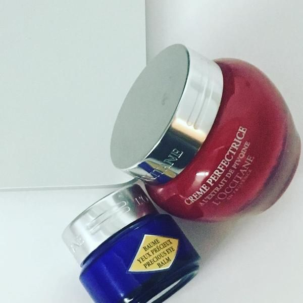 Immortelle Precious Eye Balm anti-wrinkles cream with essential oils by L'Occitane soothes, nourishes & moisturizes, reducing dark circles & puffiness