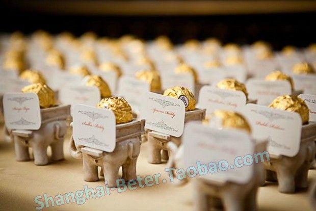 24 pcs favores do casamento chá de elefante indiano / w chá luz vela titular SZ040 decoração festa