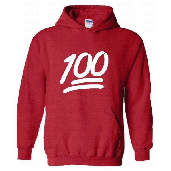 100 Emoji White Logo Hood Sweatshirt Emoji Hoodie Emoji Hoodies Emoji... (22 NZD) ❤ liked on Polyvore featuring tops, hoodies, sweatshirts, shirts, emoji, green, women's clothing, sweatshirt hoodies, hoodie shirt and red hoodie