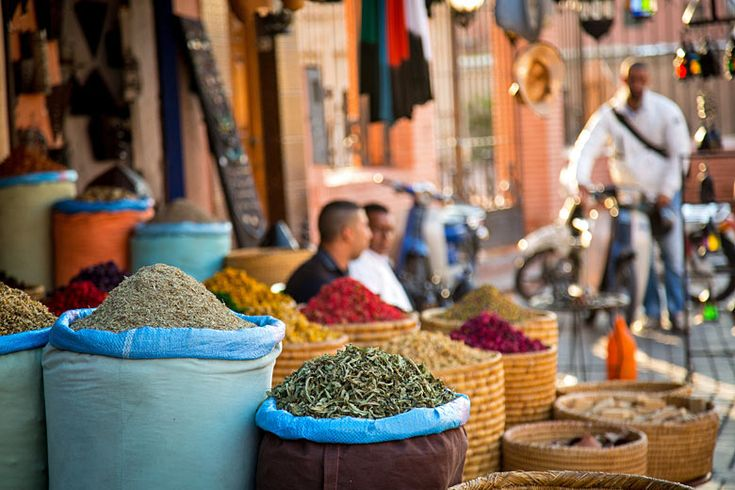 Shop in the old town of #Marrakech, #Morocco | Top short and long haul destinations with BA holiday finder for 2018 | Weather2Travel.com #holiday #travel #ba #britishairways