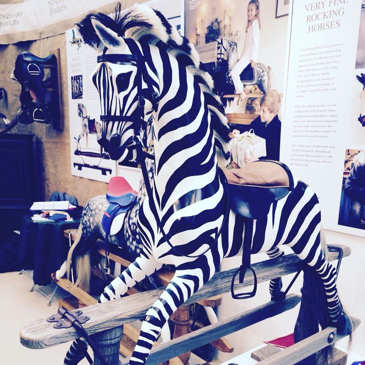 Every child's dream - a rocking zebra! Beautiful hand crafted rocking horses curtesy of Stevenson Brothers