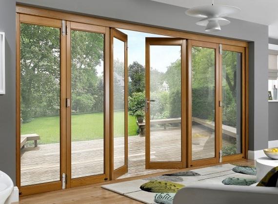Prestige 14ft Solid Oak Folding Sliding Doors | Vufold