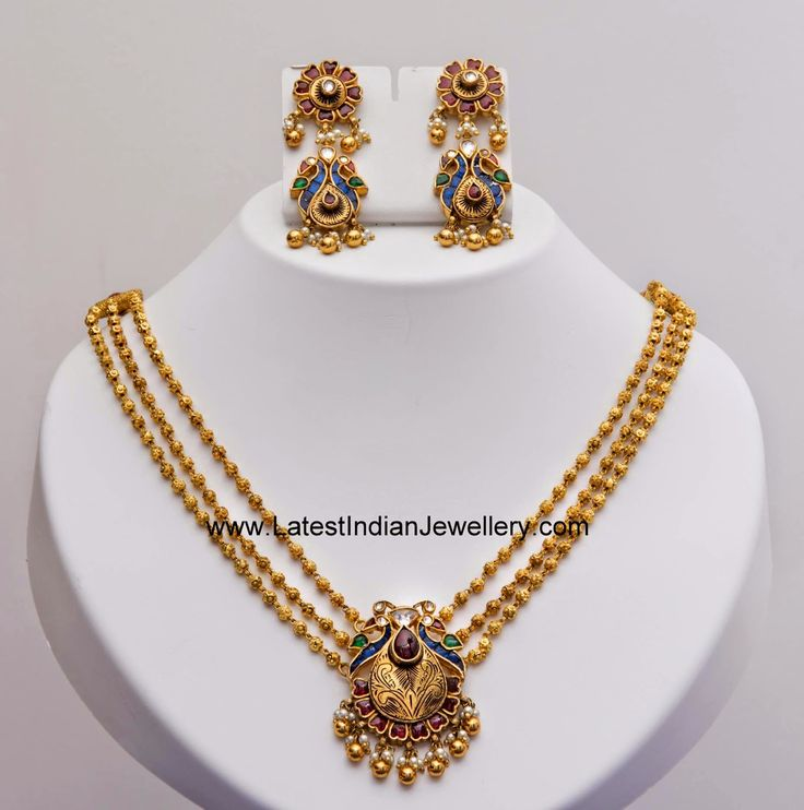 Light Weight Gold Beads Necklace