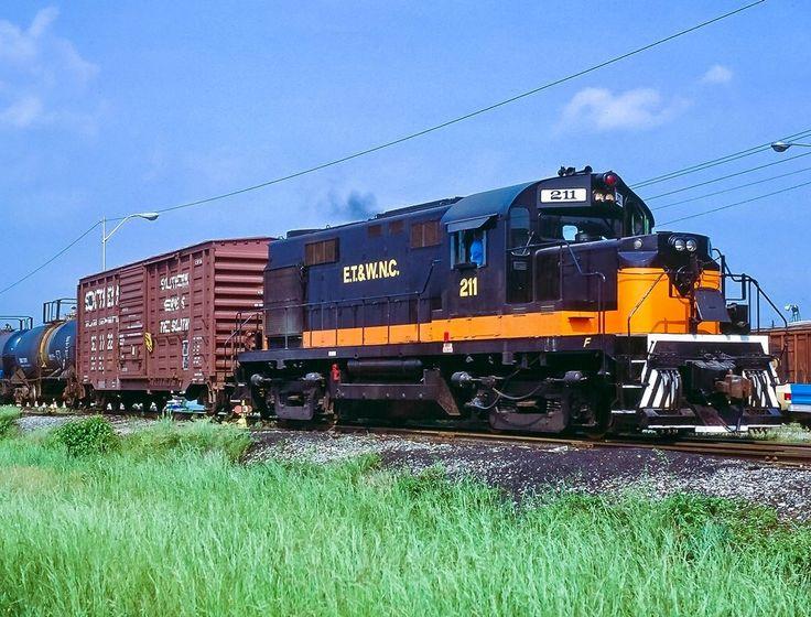 East Tennessee & Western North Carolina Railroad, Alco RS-32 diesel Locomotive in Elizabethton, Tennessee, USA