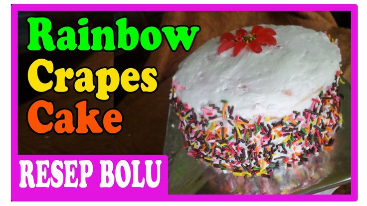 https://youtu.be/wcxww-17ENs  rainbow crepes cake recipes.