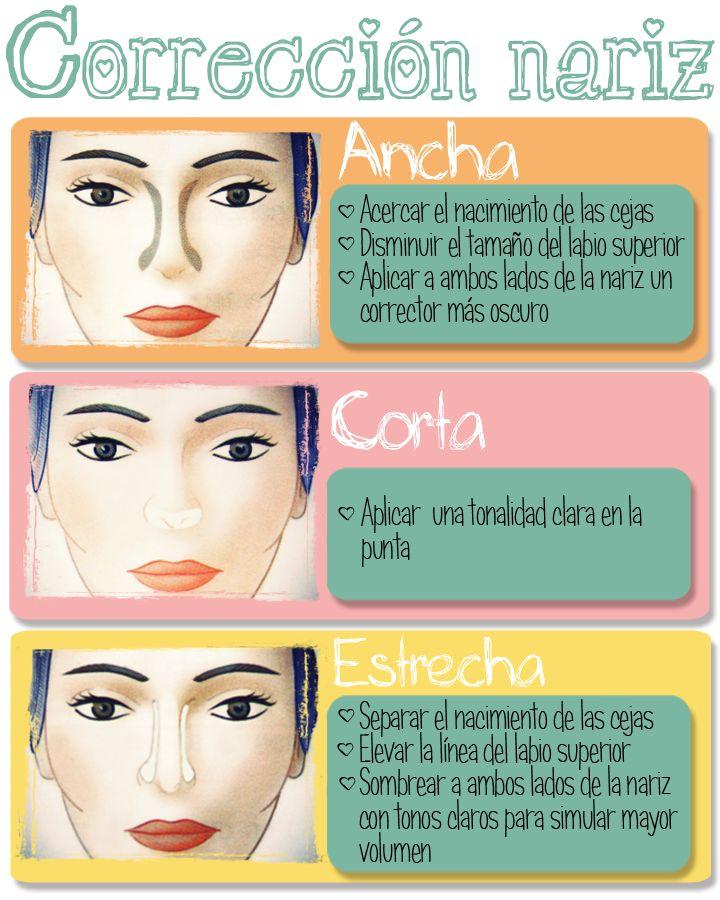 Correcciones de maquillaje para la nariz