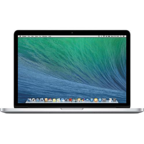 "Image of Apple 13.3"" MacBook Pro Notebook Computer with Retina Display Intel Core i5 Dual-Core Haswell 2.4 GHz 8GB of Onboard 1600MHz DDR3L RAM 128GB PCIe-Based Flash Storage Mac OS X 10.9 ME864LL/A"