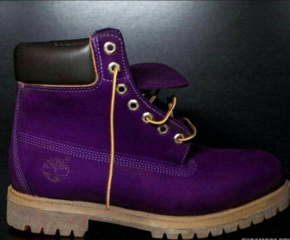 Custom Purple Timberland Boots. Men WOMEN child by TailoredTimbs