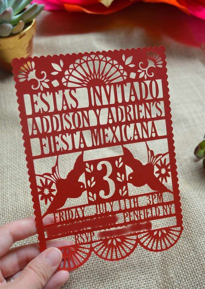 Mexican Fiesta Birthday Party invitation!  See more party ideas at CatchMyParty.com!