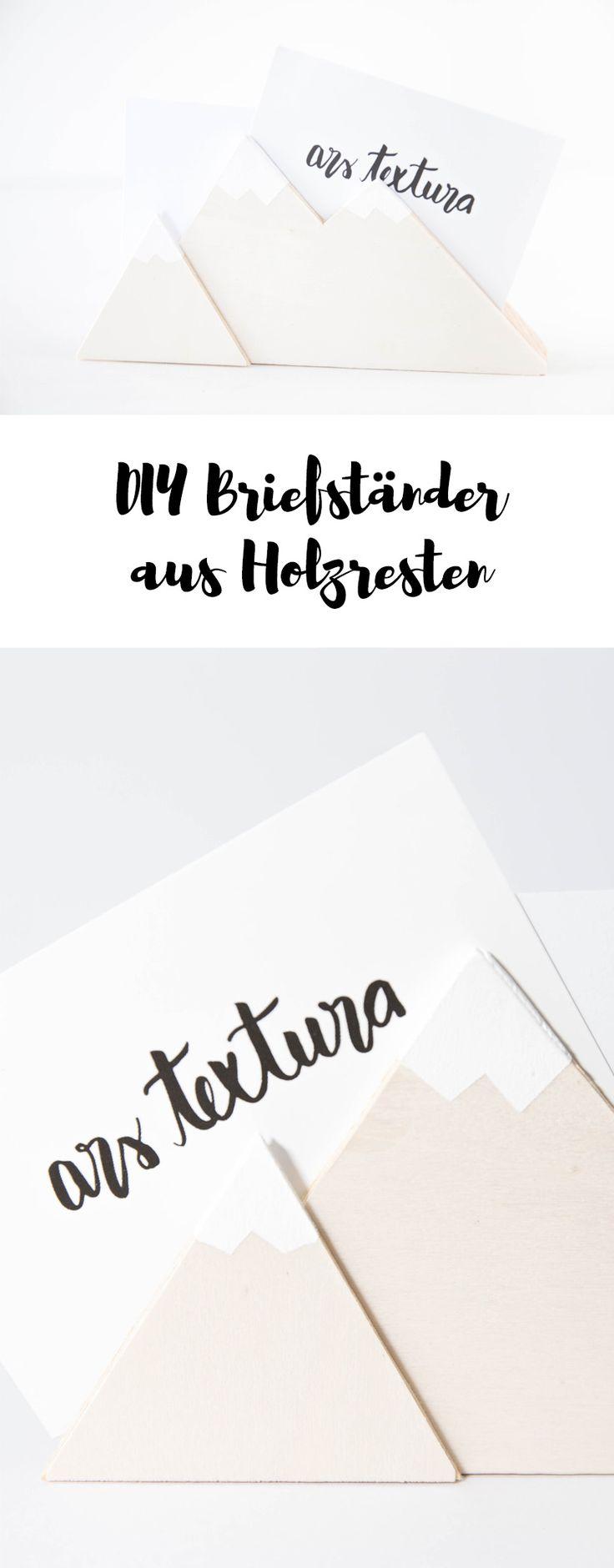 Ein DIY Briefständer für den Schreibtisch