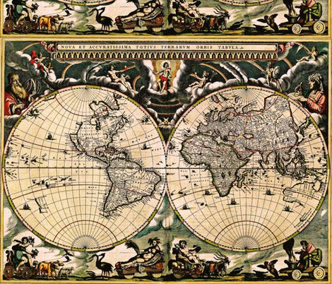 131 best fabric images on pinterest custom fabric fabric wall vintage world map 1 fabric by whimzwhirled on spoonflower custom fabric ancient gumiabroncs Images