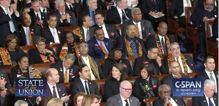 Watch the Congressional Black Caucus' Stone Cold Reaction to Trump's Black Unemployment Nonsense