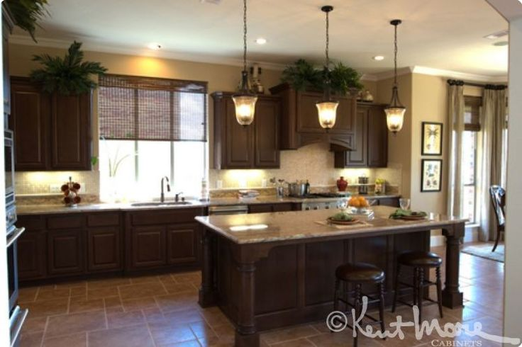 Kitchen Cabinets by Kent Moore Cabinets Maple Wood with Burnt Sienna