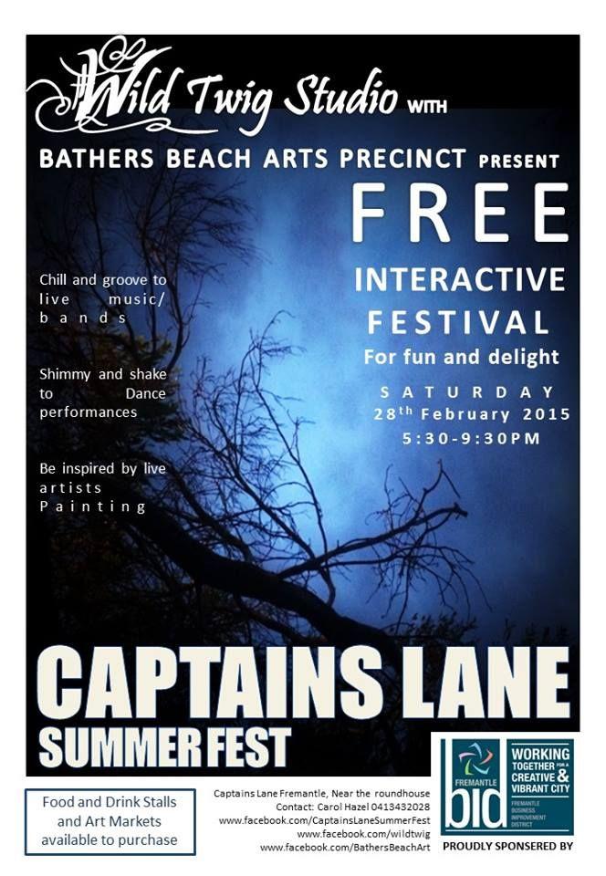 Captains Lane Summer Fest, 5.30-9.30pm Saturday, 28 February 2015