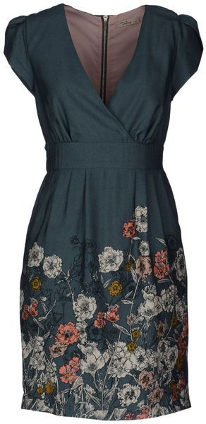 Floral garden cap sleeve dress. It's a bit on the 'adorable' side, but the shape is quite flattering.