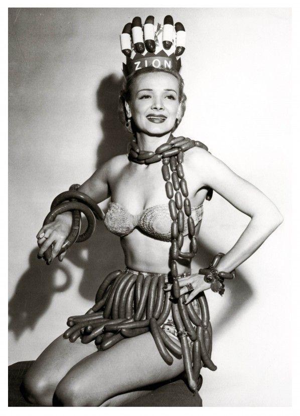 Miss Sausage Queen 1955 - via The Retronaut