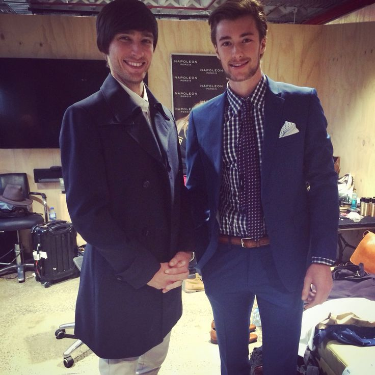 March 2015  Backstage at the American Crew All Stars Challenge Runway.  Stylist: Andrew Zumbo Models: Tom and Angus from Vivien's Model Management Calibre Australia