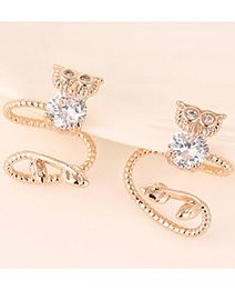 Forever21 Owl Diaomnd Decorated Curve Design Rose Gold Color.  Fashionable with passion REPIN if you like it.😍 Only 86 IDR