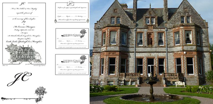 Castle Leslie Letterpress for Joy and Cormac . Wedding Stationery from Appleberry Press