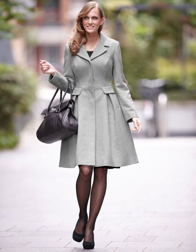 Check Wool Coat by Pepperberry