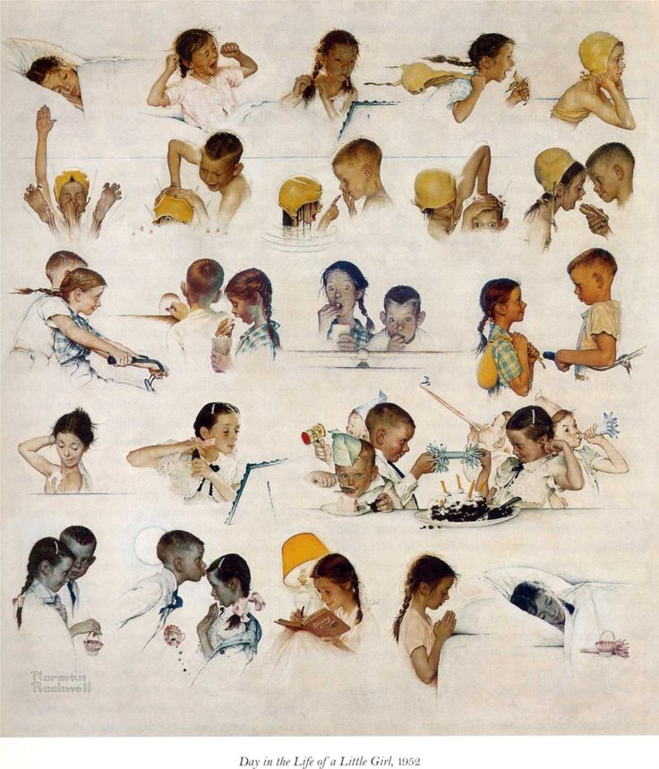 """Norman Rockwell """"A Day In The Life Of A Girl"""" (1952)"""
