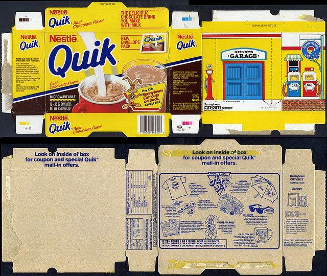Nestle Quik - Bunnytown cut-out box - Hop Shop catalog - box - 1988 | Flickr - Photo Sharing!
