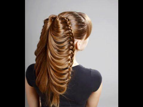 Coronilla con trenza de Pescado - Lace braids into a fichtail   Chikas Chic - YouTube