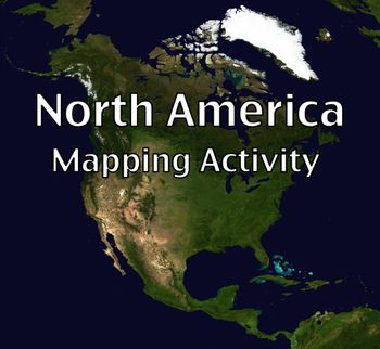 Map Activity – North America -    In this activity, students must locate and identify the countries (and capital cities if so desired) of North America. When students are finished with this, time can be spent coloring in the various countries.  Included in this package is a ready-to-copy blackline master map of North America along with a separate answer key. $