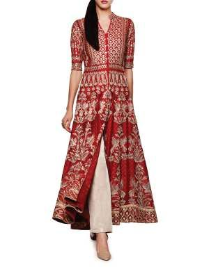 Menali red anarkali Mais