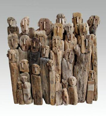 Driftwood sculpture by Marc Bourlier