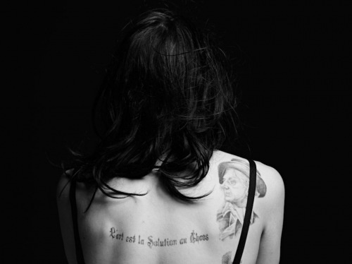 Frances Bean Cobain (art is the only solution to chaos)