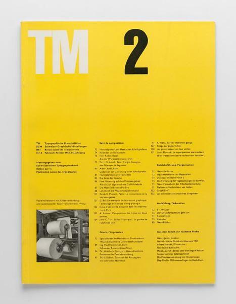 TM Typographische Monatsblätter, issue 2, 1955