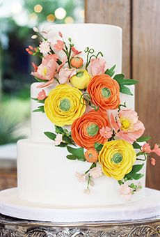 A Spring-Inspired Floral Wedding Cake | Wedding Cake
