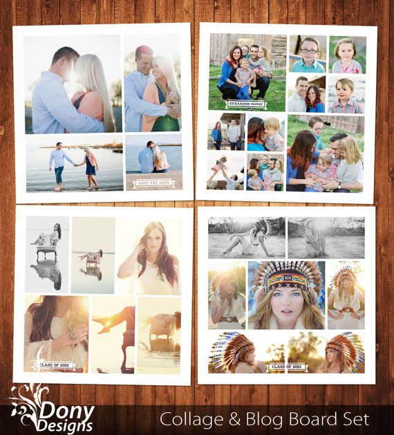senior photo collage templates - buy 1 get 1 free blog board collage template photoshop
