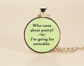 Divergent Quote necklace. A beautiful quote about real beauty