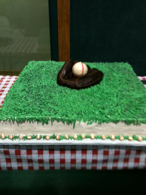 Larger picture of my Baseball Glove cake.