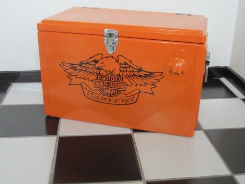 retrocooler koelbox model kansas in harley uitvoering