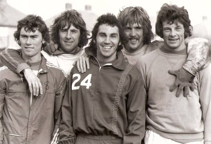 QPR 1975. Dave Thomas, Stan Bowles, Gerry Francis, Phil Parks, Ian Gillard.